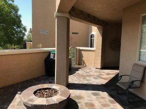 Completed Small Patio with Patio Pavers Installation